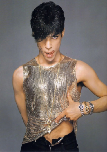 Prince for Gianni Versace, 1995. Photographed by Richard Avedon.