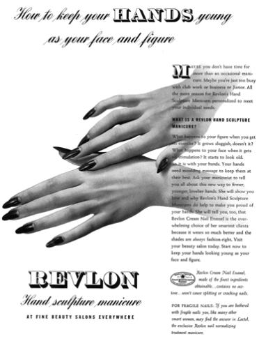 Revlon advertisement, 1939.