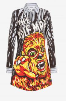Wolfman Dress MOSCHINO X UNIVERSAL - Moschino.com